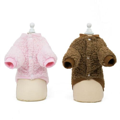 US Chihuahua Dogs Pet Clothes Coat Jacket Warm