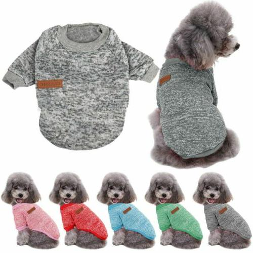 US Pet Dog Cat Warm Fleece Vest Clothes Coats Shirt Puppy Sw