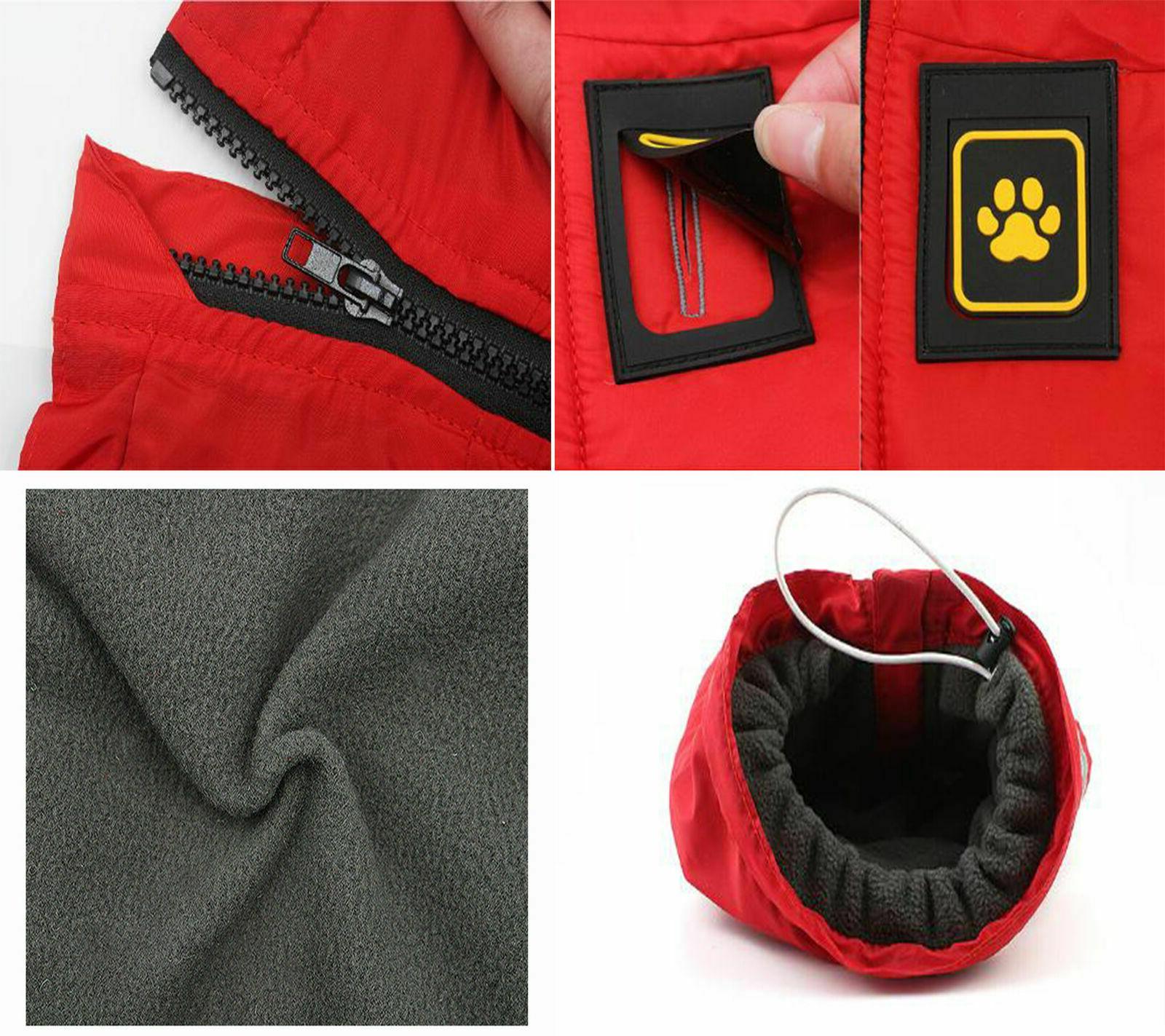 Waterproof Warm Winter Coat Dog Padded Fleece Pet Large