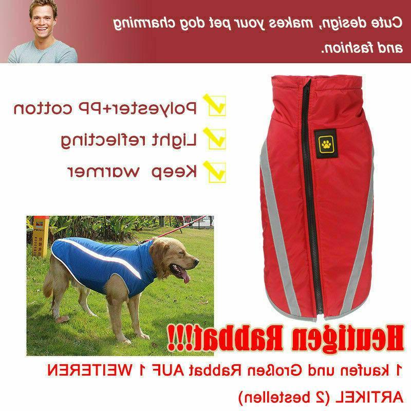 Waterproof Coat Clothes Dog Fleece Pet Vest Large