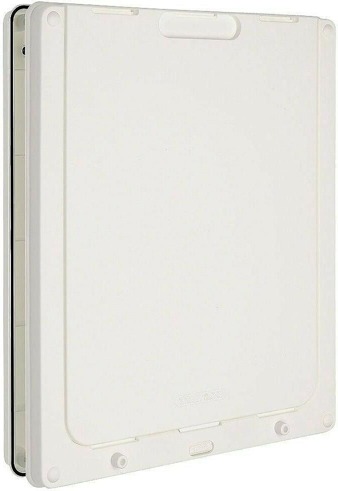 Dog White Door Small Large locking security panel