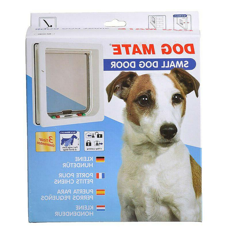 white dog door in small or large