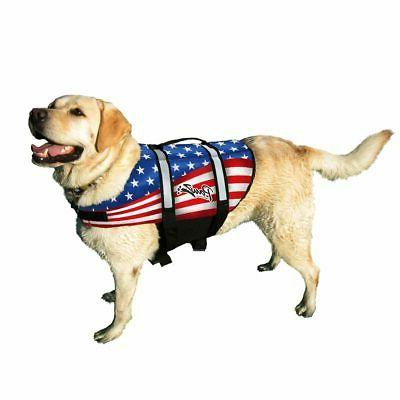 PAWZ PET PRODUCTS ZF1500  Flag NYLON DOG LIFE JACKET LARGE F