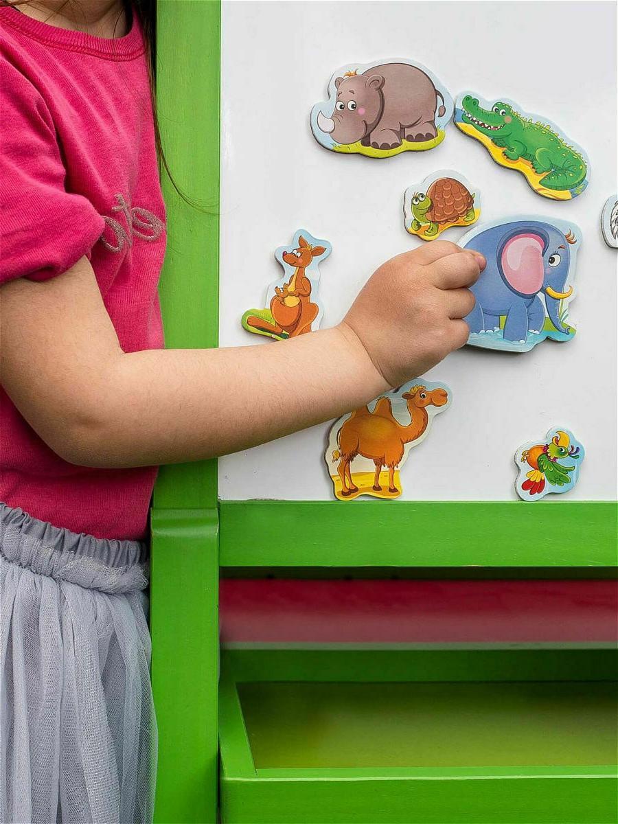 Zoo Soft Magnets Kids, 2+, Pets, on Language