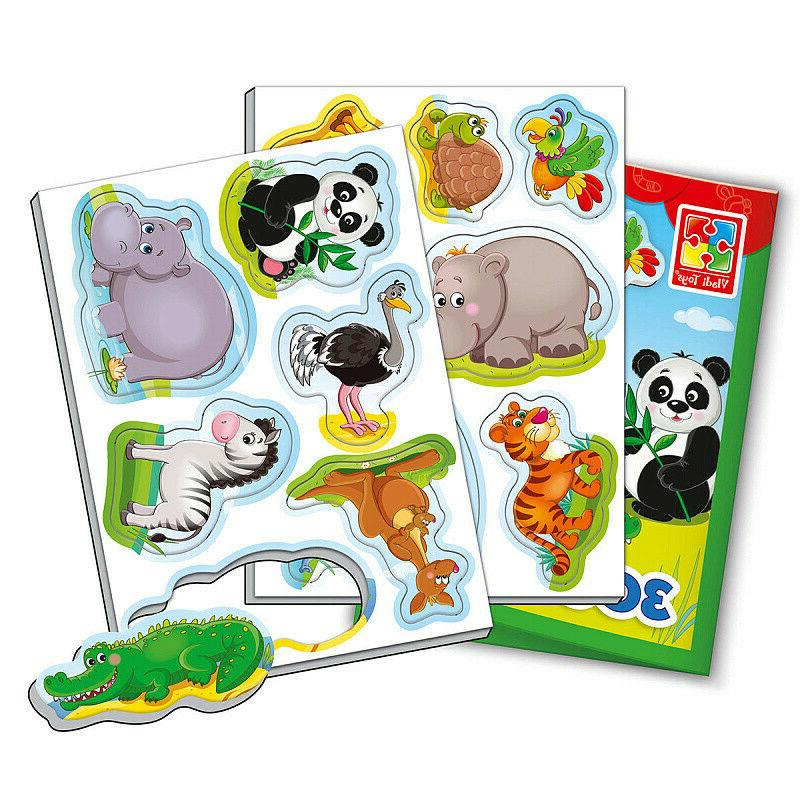 Zoo Little Soft Magnets for Kids, Pets, Language