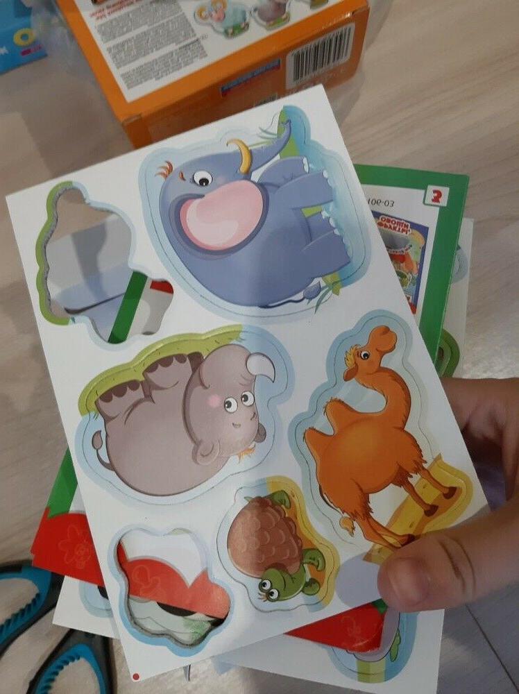 Zoo Little World Soft Magnets Kids, Pets, Animals, on Language