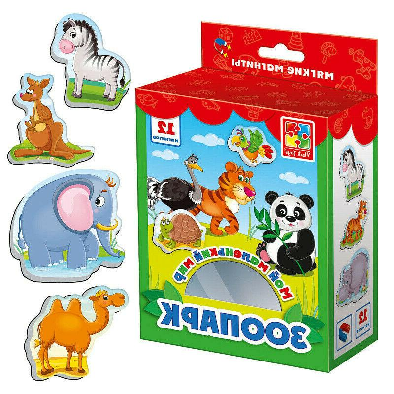 zoo little world soft magnets for kids