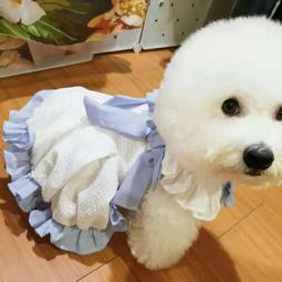 Lace Female Bow Dog Dress Clothing For Small Dogs Pet Teddy