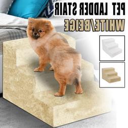 Large 3 Step Pet Dog Ramp Easy Up Stair Portable Ladder Pet