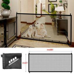 Large Folding Pet Dog Baby Safety Gate Mesh Fence Portable G