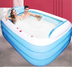 Large Inflatable 2 Person Bathtub Adult Outdoor Indoor Hot T