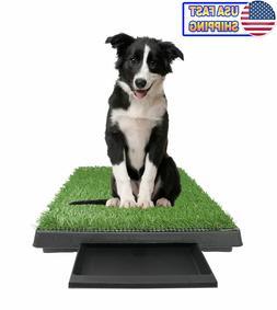 Large Potty Pad w/ Front Tray - Dog Training Pad Pet Grass P