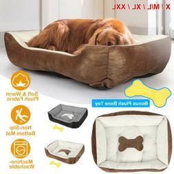 Large Soft Warm Fleece Pet Bed Dog Cat Cozy Cushion Mats Mac
