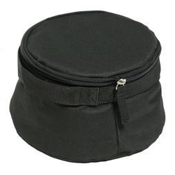 Bergan Large Travel Pet Dog Cat Bowl Black Soft Foldable