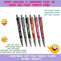 Laser Engraved Funny PENS - Rude Cheeky Sweary Novelty Offic