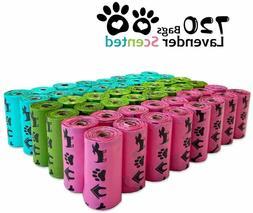 PET N PET Poop Bags 720 Counts Lavender Scented  Dog Waste B