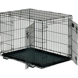 """Dog Crate   MidWest Life Stages 36"""" Double Door Folding Meta"""