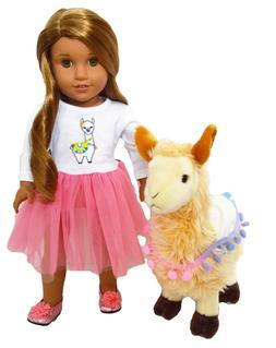 llama love set and plush llama pet