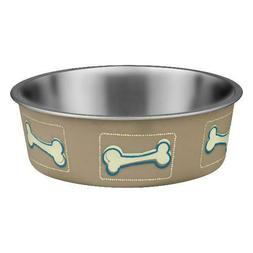 Loving Pets Bella Bowls, Costal Taupe, Small, 1.0 CT