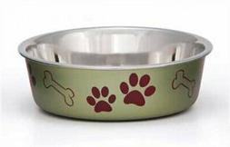 Loving Pets Metallic Bella Bowl, Medium, Artichoke