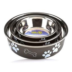 loving pets stainless steel dog feeder bowl
