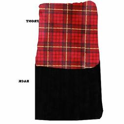 Mirage Pet Products Luxurious Plush Carrier Blanket Red Plai