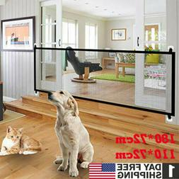 Magic Mesh Gate Folding Safety Guard Door Fence Net Stairs P