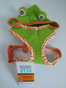 Martha Stewart Frog Hooded Adjustable Harness X-SMALL Dog Wa