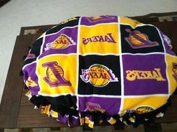 Medium NBA LA Lakers Handmade Fleece Pet Bed