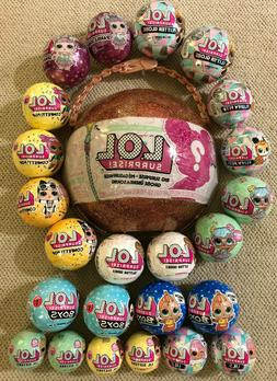 LOL surprise MEGA Lot: 24 balls & BIG L.O.L Surprise Glitter