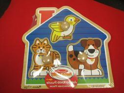 Melissa & Doug 2055 - Jumbo Knob Puzzle - House Pets - Ages