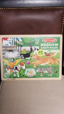 Melissa and doug wooden jigsaw puzzle Pet's 24 Pieces 3 and