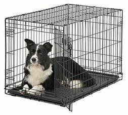 Metal Cage Large Homes Pets Dog Single Double Door Folding C