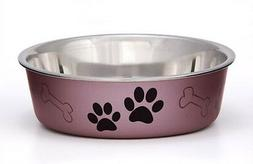 Loving Pets Metallic BELLA BOWL  Stainless Steel SMALL Dog F
