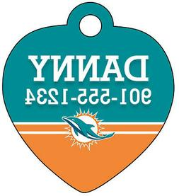 Miami Dolphins Pet Id Tag for Dogs & Cats Personalized w/ Na