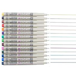Micro Line Fine Point Ink Pens - Archival Ink - Assorted Col