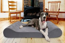 microvelvet luxe lounger contour orthopedic dog bed