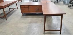 Mid Century Modern 2-person l-shaped desk set by West Elm -