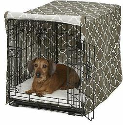 Mid-West Homes for Pets Dog Crate Cover - Brown Geometric Pa
