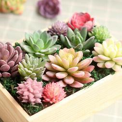 Mini Artificial Succulent Plant Fake Small Bonsai Pot Home G