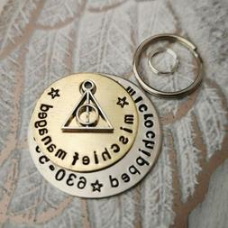 Mischief managed Harry Potter inspired handmade stamped pet