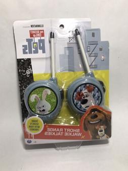 Secret Life of Pets  short range walkie talkie set NEW Max &