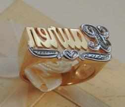 NAME RING PERSONALIZED STERLING SILVER ANY NAME *WITH BIT WO
