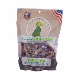 NaturalValue Sausages For Dogs Soft Chewy Beef 13oz 2pk