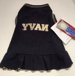 All Star Dogs Navy Pet Dog Dress Cheerleader Outfit Size X-S