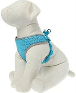 New Blue Geo Reflective Top Paw Comfort Harness Pet Dog Cat