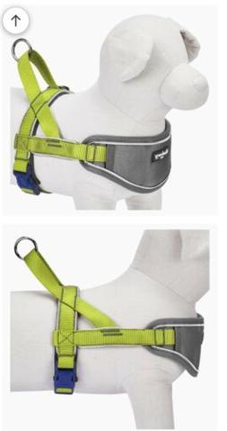 New Blueberry Dog Harness Soft Comfy 3M Reflective Padded Si