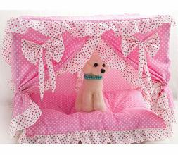 New Cute Princess Handmade Cotton Pet Dog Cat Bed House Tent