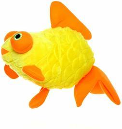 New Dog Puppy Toy Large Mighty Ocean Goldfish Fun Yellow Ora