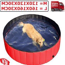New Foldable Pet Pool Collapsible Large Dog Pool Bathing Swi